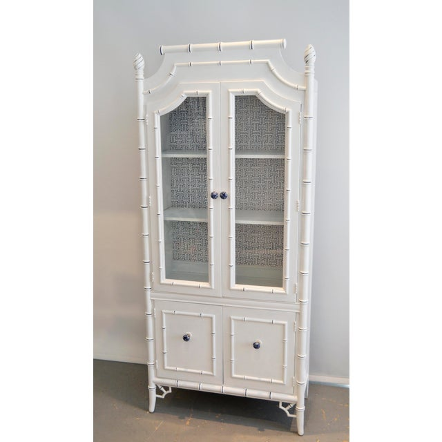 Thomasville Bamboo Style Armoire - Image 2 of 5