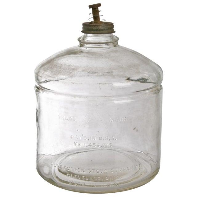 Image of Vintage Glass Perfection Stove Kerosene Jar