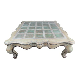 Monumental French Painted Coffee Table