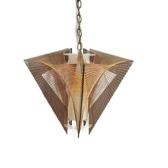 mid century modern lucite string art pendant lamp chairish. Black Bedroom Furniture Sets. Home Design Ideas