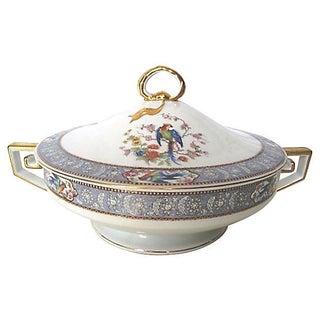 Blue Pheasant Gilded Greek Key Serving Bowl