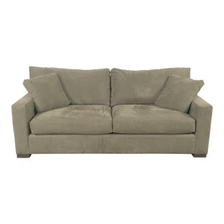 Crate & Barrel Microfiber Sofa