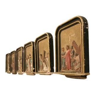 French Antique Stations of the Cross