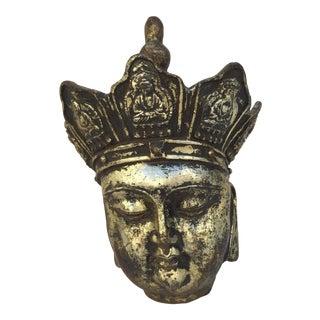 Caste Iron Gold Leafed Buddha Head