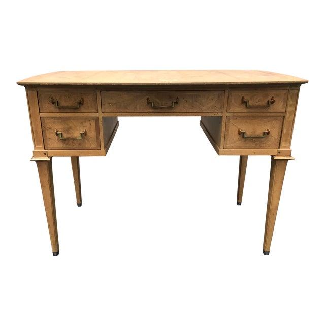 Mastercraft Desk Burled Wood - Image 1 of 11