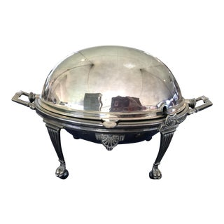 Antique English Silver Plated Revolving Vegetable Tureen