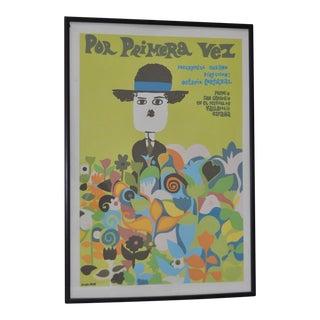 """Circa 1968 """"Por Primera Vez"""" Vintage Documentary Movie Poster"""