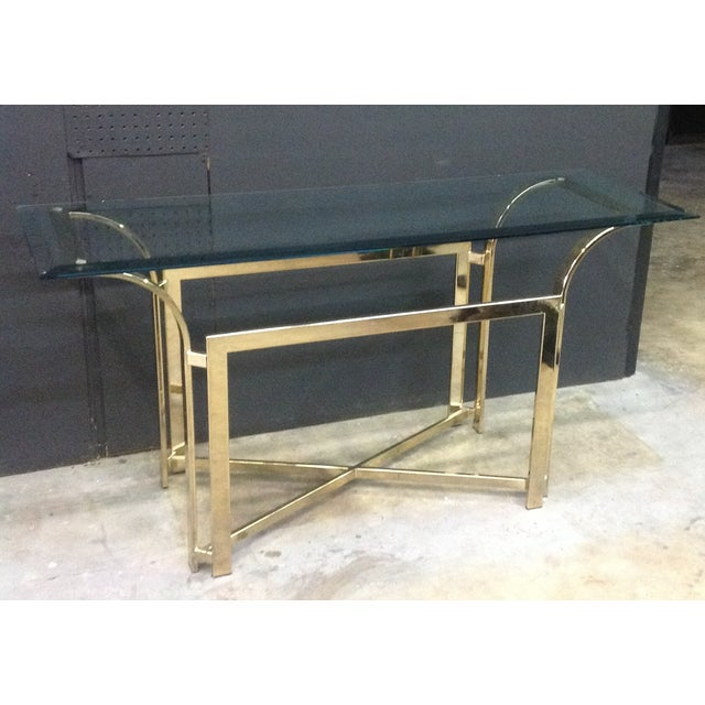 DIA Style Brass Console Table - Image 2 of 7