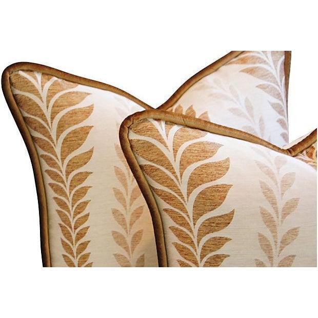 Iman Golden Zahra Golden Leaf Pillows - A Pair - Image 4 of 7