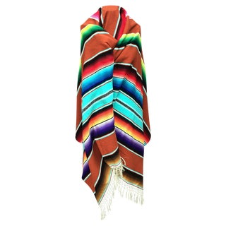 Vintage Mexican Serape Blanket