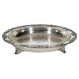 Silver-Plate Open Footed Serving Bowl