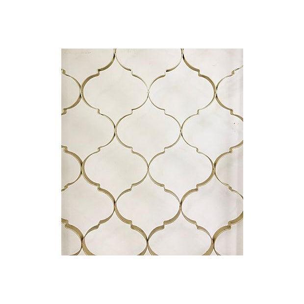 Mid-Century 3 Panel Gold Aluminum Divider - Image 4 of 7