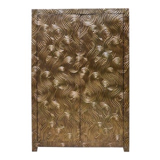 Dragon Swirl Armoire - Brass
