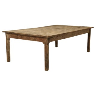 Antique Farm House Dining Table from France for 12