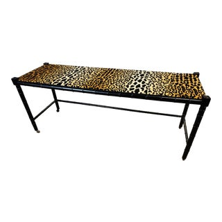 Faux Bamboo & Leopard Print Console