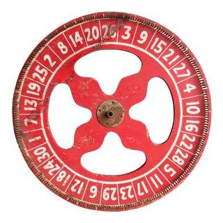 Antique Carnival Ticker Wheel