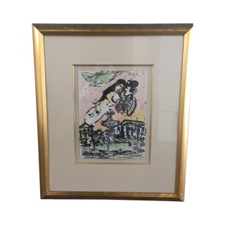Marc Chagall Lovers in Heaven Print