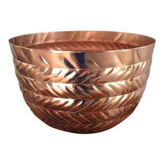 Copper Herringbone Planter