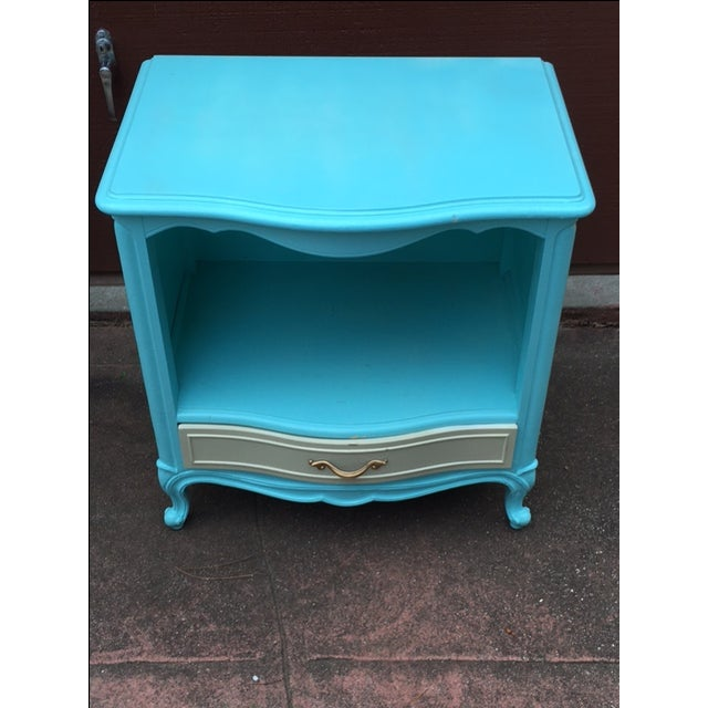 Shabby Chic Drexel Touraine Bedside Table - Image 2 of 4