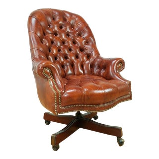 Maroon Chesterfield Tufted Chair