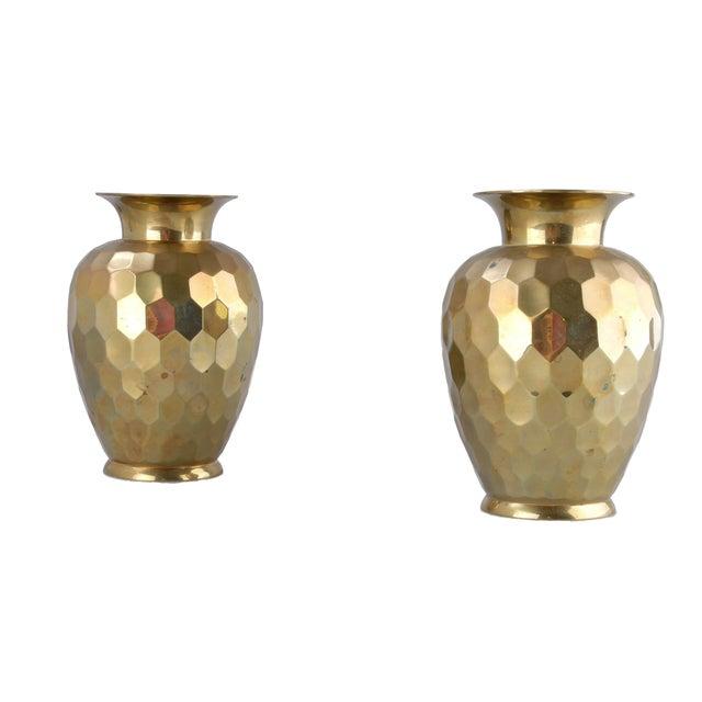 Decorative Brass Vases - Pair - Image 4 of 7