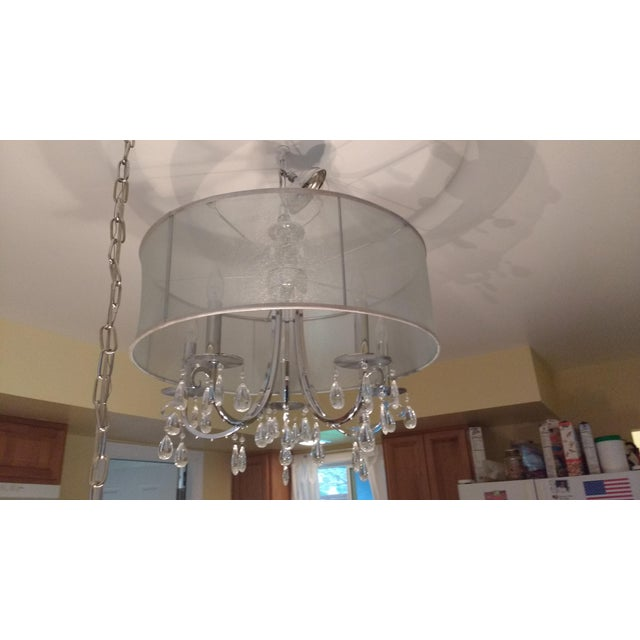 Crystal Chandelier With Drum Shade: Silver Crystal Drum Shade Chandelier