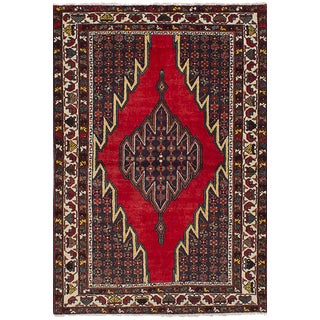 "Vintage Persian Hamadan Rug - 4'2"" x 6'6"""