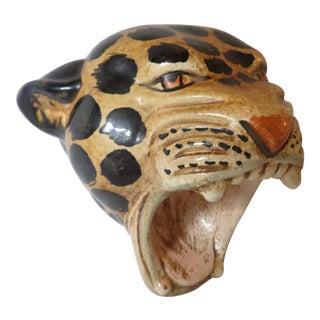 Italian Cheetah Head Figurine