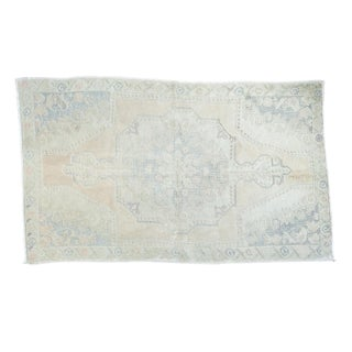 "Carved Distressed Oushak Rug - 4'5"" X 7'4"""