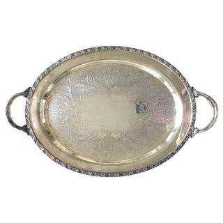 WM Rogers Silver Plate Platter