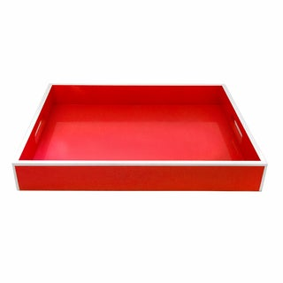 Red Lacquer Serving Tray