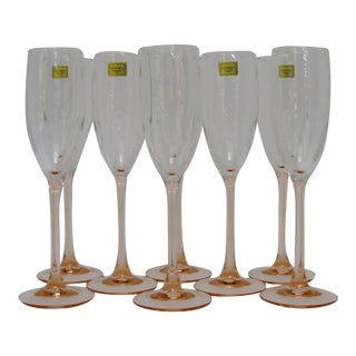 French Champagne Flutes - Set of 8