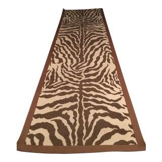 Stark Zebra Print Runner- 2′10″ × 10′