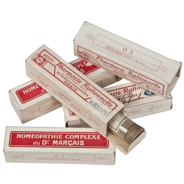 Vintage French Homeopathic Vials - Set of 5 - Image 1 of 6