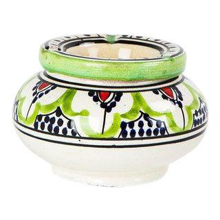 Moroccan Small Ceramic Ashtray