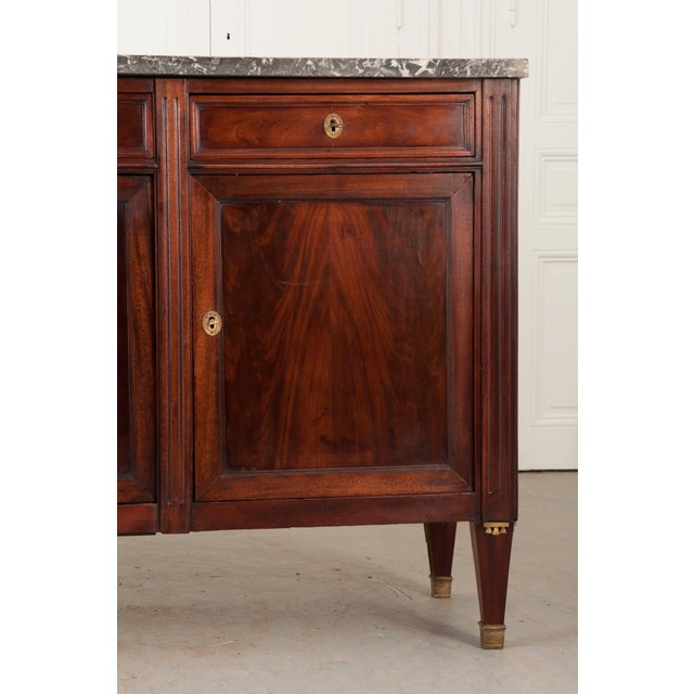 French Early 19th Century Mahogany Directoire Enfilade with Marble Top - Image 5 of 10