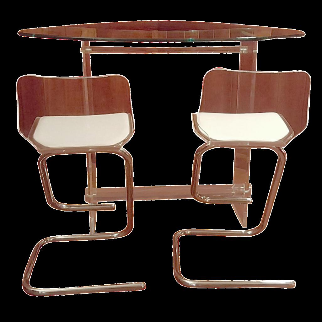 hill vintage lucite bar u0026 4 stools