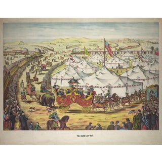 "19th-C. ""The Grand Lay-Out"" Circus Print"