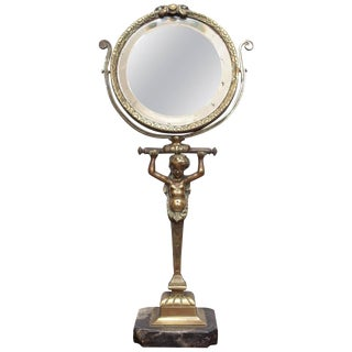 Bronze Table Mirror with a Caryatid