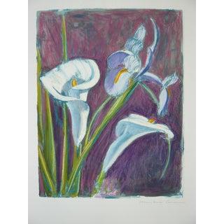 "Humbert Curcuru ""Iris & Calla Lily"" Drawing"