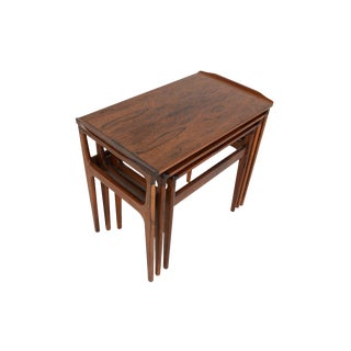 Danish Modern Brazilian Rosewood Nesting Tables - Set of 3