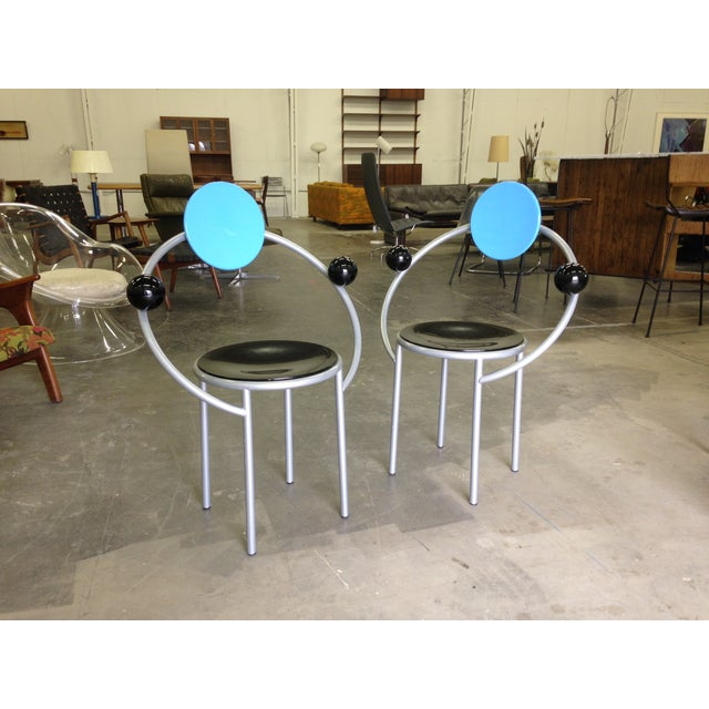 Michele De Lucchi Memphis First Chairs - Pair - Image 3 of 9