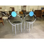 Image of Michele De Lucchi Memphis First Chairs - Pair