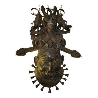 African Bronze Wall Sculpture