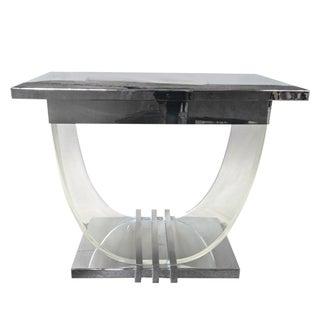 Lucite & Chrome Art Deco Console Table