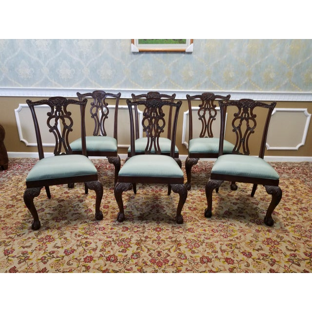 ethan allen mahogany chippendale style chauncey dining