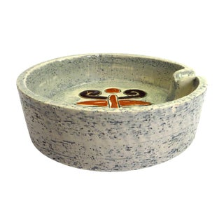 Sgraffito Ashtray from Italy, Bitossi Ceramica