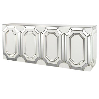 Silver Zoe Mirrored Sideboard