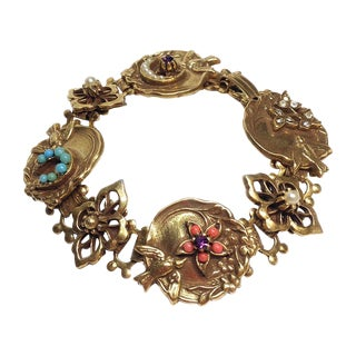 Goldtone Bird-Themed Bracelet