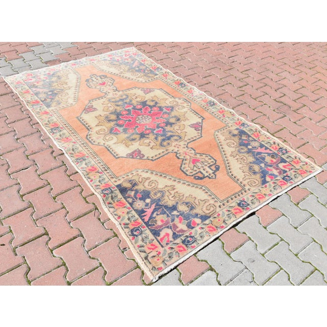 Muted Handwoven Nomadic Vintage Anatolian Oriental Rug - 4′4″ × 7′3″ - Image 3 of 6